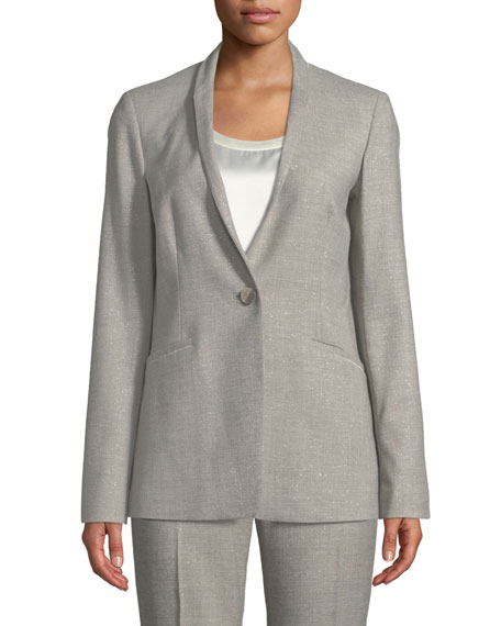 Lafayette 148 New York Darcy One-Button Stardust Wool