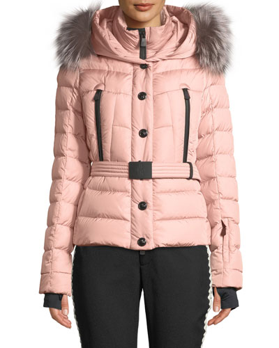 Beverly Fitted Puffer Coat w/ Removable Fur