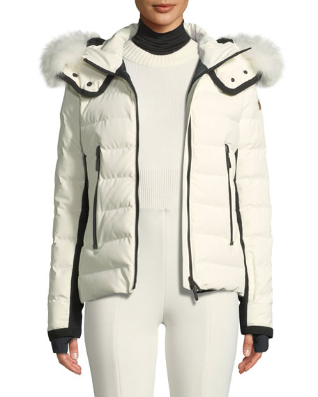 Moncler Grenoble Lamoura Hooded Puffer Jacket w/ Removable