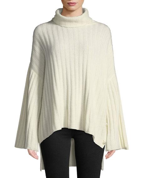 Milly Oversized Cashmere Turtleneck Sweater
