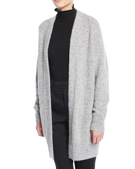 Cashmere Open-Front Raglan Cardigan