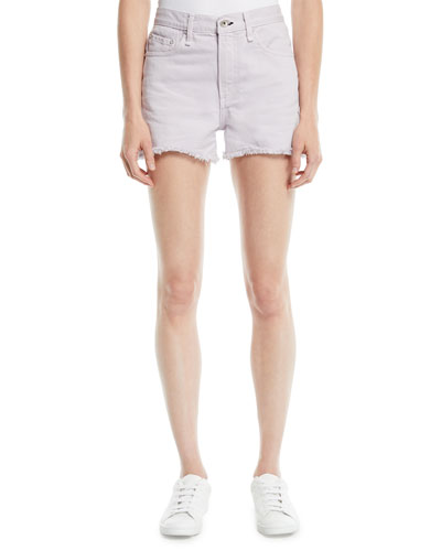 Frayed Mid-Rise Cutoff Shorts