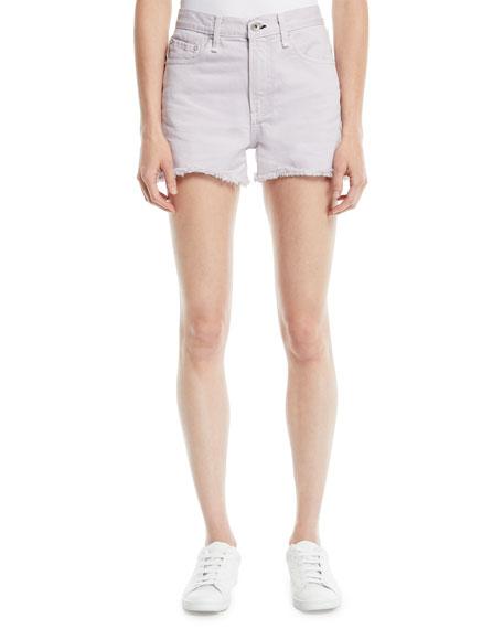 Frayed Mid-Rise Cutoff Shorts