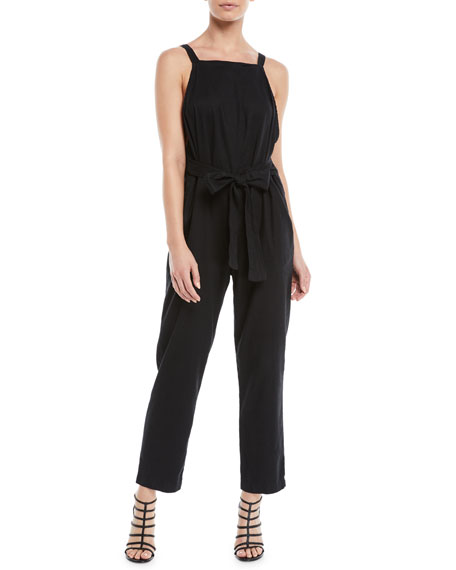 Antifit Sleeveless Cropped Cotton Jumpsuit