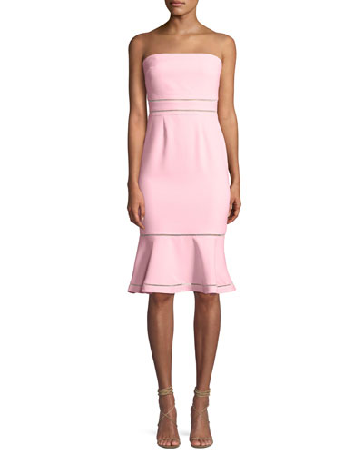 Abbott Strapless Flounce Cocktail Dress