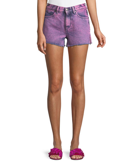 Acynetic DARBY ROBERTS SIDE-SLIT CUTOFF SHORTS