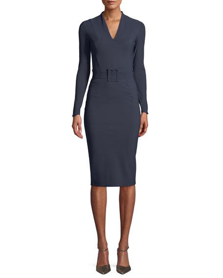Chiara Boni La Petite Robe Dresses EVALDA LONG-SLEEVE DRESS W/ BELT