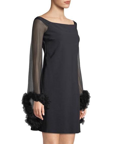 Chiyo Mini Dress w/ Long Tulle Sleeves