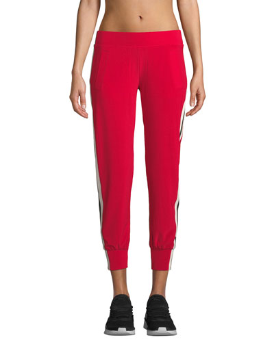 Side-Stripe Ankle Jogger Pants