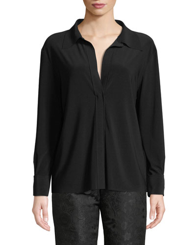 NK V-Neck Long-Sleeve Shirt