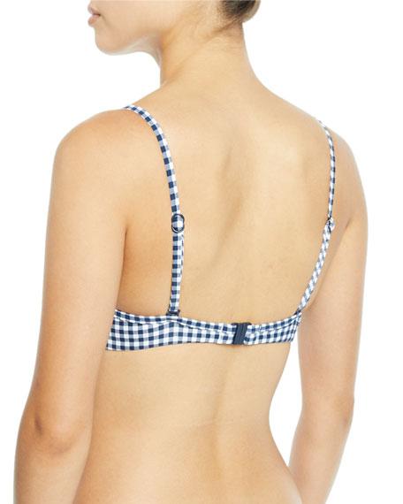 Capri Check Underwire Bikini Swim Top