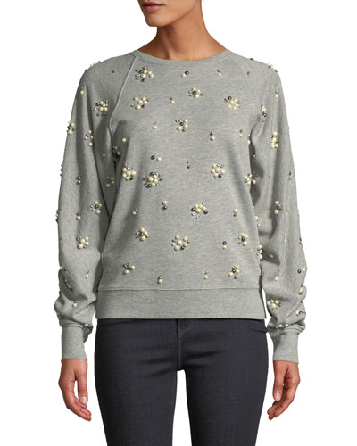 Jesiah Embellished Pullover Sweatshirt