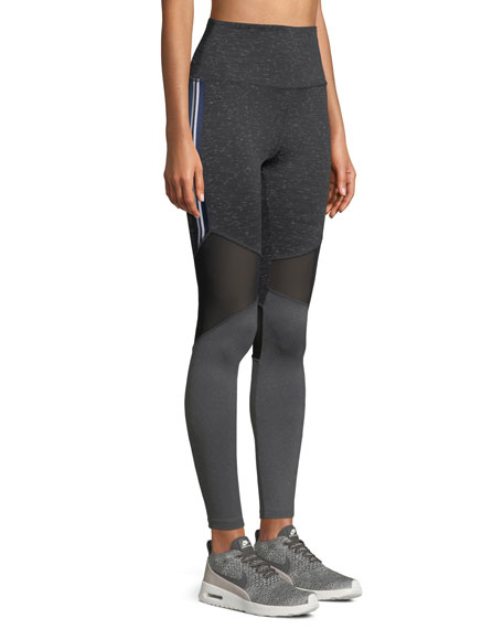 Ellison Colorblock Mesh Performance Leggings