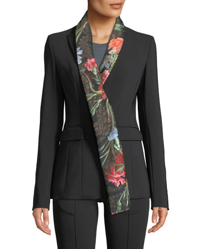 Double-Breasted Jacket with Foulard Collar