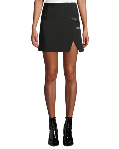 Stretch Slit Mini Skirt