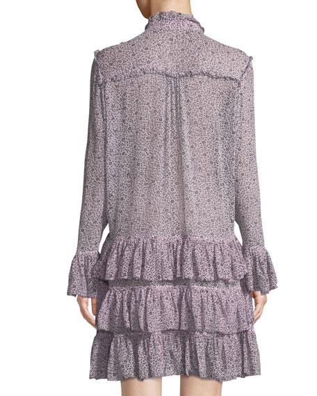 Rebbie Goa Ditsy Floral Drop-Waist Mini Dress
