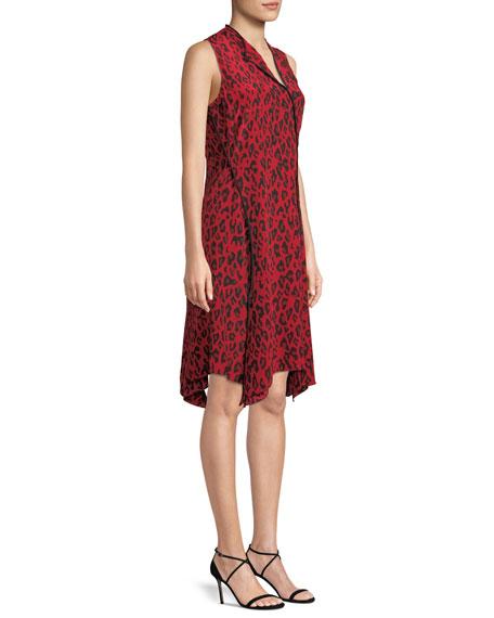Sleeveless Bias-Cut Floral-Print Silk Dress