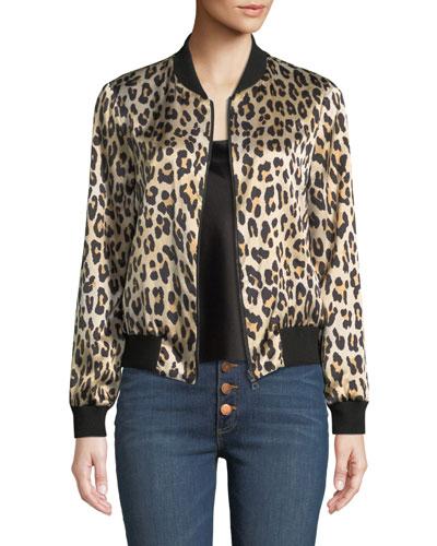 Lonnie Reversible Silk Bomber Jacket