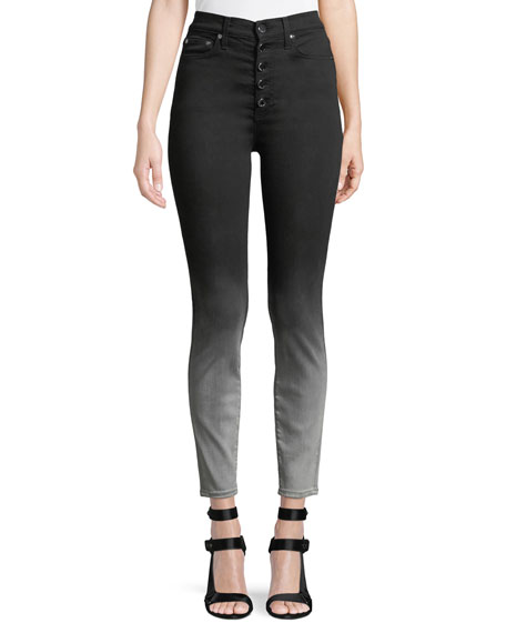 ALICE + OLIVIA JEANS Good High-Rise Faded Skinny