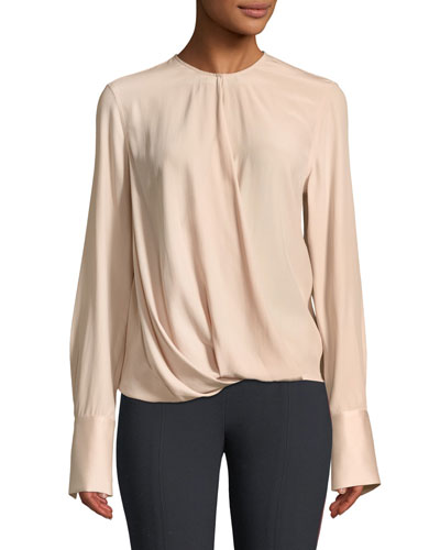 Max Long-Sleeve Silk Blouse