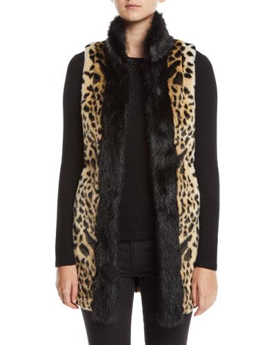 Cheetah-Print Faux-Fur Stroller Vest