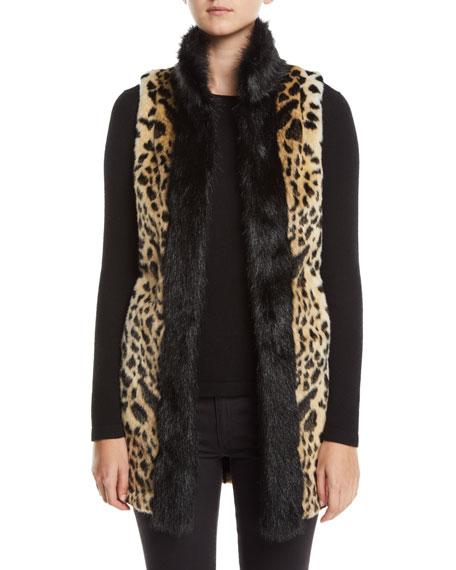 Fabulous Furs Furs CHEETAH-PRINT FAUX-FUR STROLLER VEST