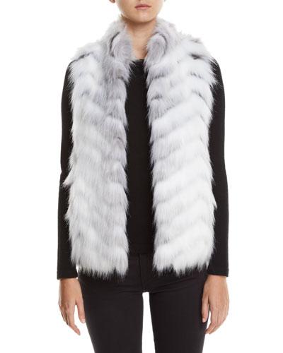 Limited Edition Hook-Front Faux-Fur Vest