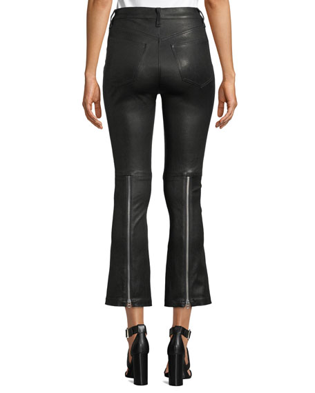 Braxton Faux-Leather Cropped Pants
