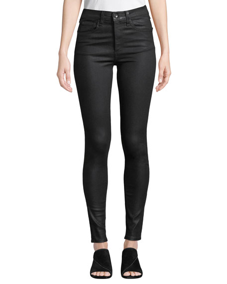 Coated High-Rise Skinny Ankle Jeans