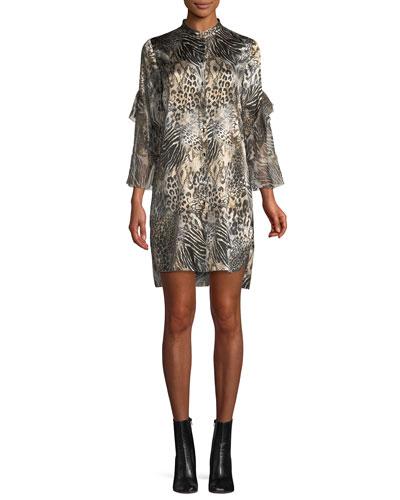 Sawyer Leopard-Print Shift Dress
