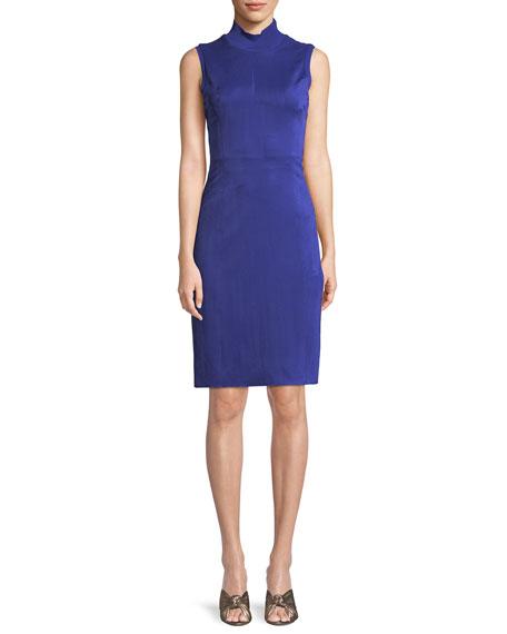 Londynn Faux-Suede Sheath Dress, Maritime Blue