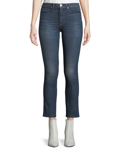 High-Rise Cropped Cigarette Jeans