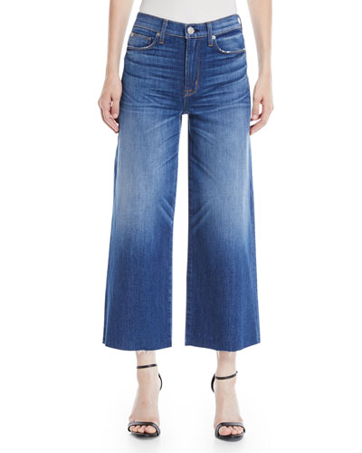 Holly High-Rise Wide-Leg Cropped Jeans