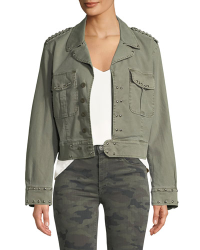 Radar Studded Military Jacket