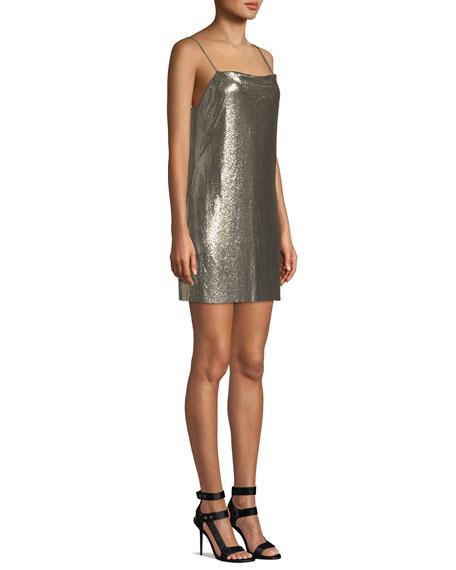 3d81530d848 Alice + Olivia Harmony Chainmail Mini Slip Dress