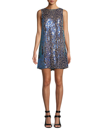 Clyde Embellished Cocktail Shift Dress