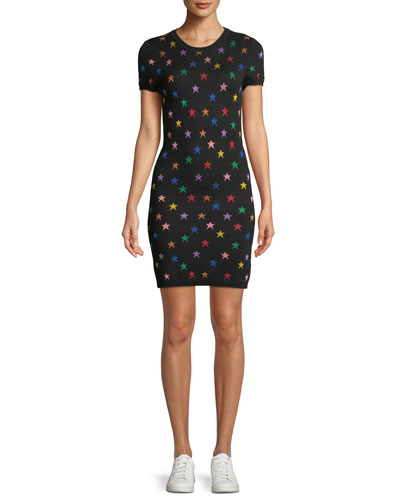 Hayden Star Jacquard Tee Dress