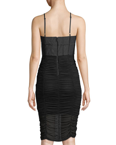 Alex Gathered Corset Bodycon Cocktail Dress