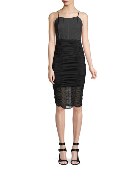 Alice + Olivia Alex Gathered Corset Bodycon Cocktail