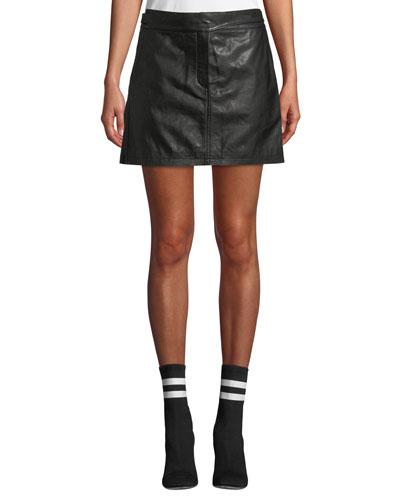 Mila Leather Mini Skirt
