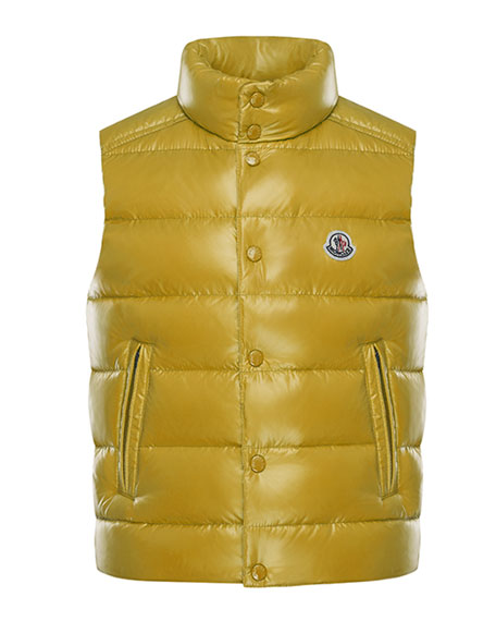 Tib Quilted Puffer Vest, Size 8-14