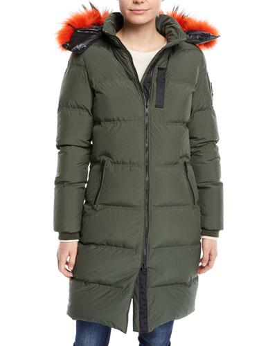 Donnacona Long Parka Coat w/ Fur Trim & Hood