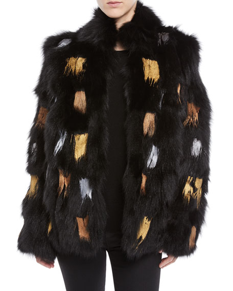 Moose Knuckles JOLIETTE PAINTED FUR JACKET