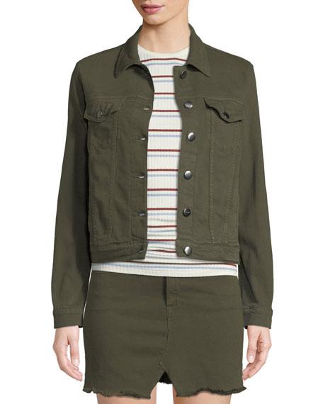 FRAME Le Vintage Button-Front Denim Jacket