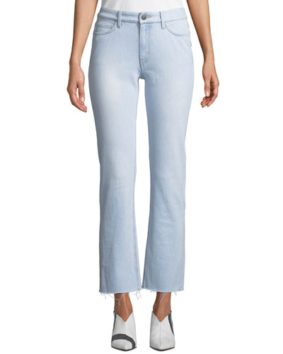 Daily High-Rise Straight-Leg Frayed Jeans