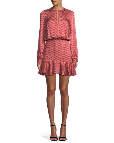Coretti Printed Flounce Mini Dress