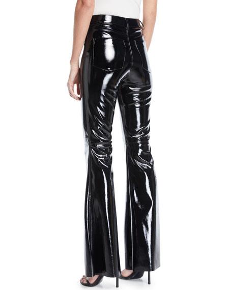 Brent High-Waist Pleather Bell-Bottom Pants