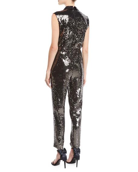 51255e501dc Alice + Olivia Lyle Sleeveless Sequin Jumpsuit