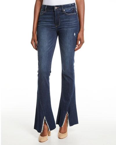 Lou Lou High-Rise Flare Split-Hem Jeans