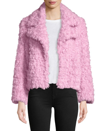 Georgia Faux-Fur Button-Front Jacket